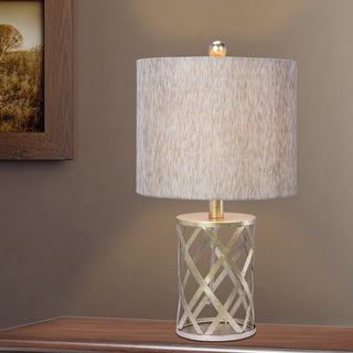 Fangio Lighting's 19.5 in. Metal Table Lamp in an Antique Gold Finish