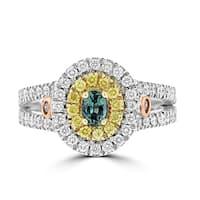 La Vita Vital 18K White & Rose Gold, Fine Brazilian Alexandrite 0.32cts & Diamond 0.80cts TDW (SI1-VS, G-H) Ring