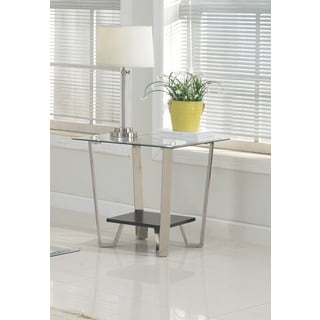 Brassex Avalon Metal Glass End Table