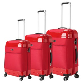 Brio Luggage 3-piece Hybrid Spinner Luggage Set