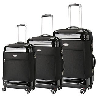 Brio Luggage 3-piece Hybrid Spinner Luggage Set