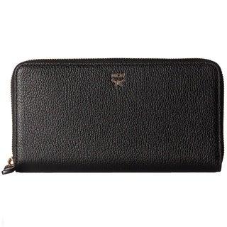 MCM Milla Zip Around Large Black Wallet