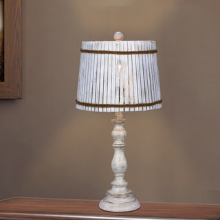 Fangio Lighting's 24.5 in. Resin Table Lamp in a White Finish