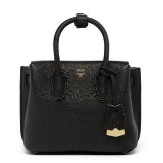 MCM Mini Milla Black Leather Tote Bag