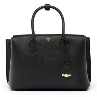 MCM Medium Milla Black Leather Tote Bag