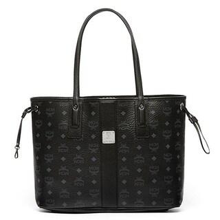 MCM Liz Reversible Medium Black Tote Bag