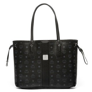 MCM Liz Reversible Medium Black Tote Bag