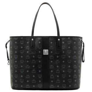Mcm Liz Reversible Large Black Tote Bag