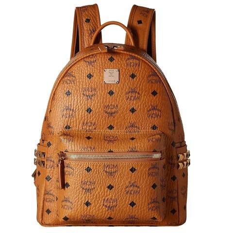 MCM Side Stud Small Stark Cognac Fashion Backpack