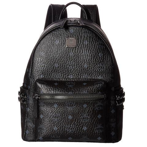 MCM Side Stud Small Stark Black Fashion Backpack