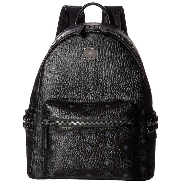 0e74ccb6e510 Shop MCM Side Stud Small Stark Black Fashion Backpack - Free ...
