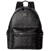 MCM Side Stud Small Stark Black Fashion Backpack