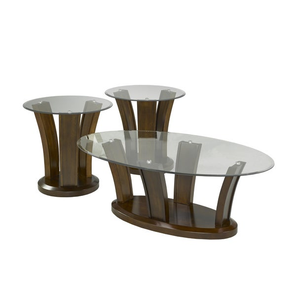brassex 7172-13 ambrose 3-piece oval coffee table set - free