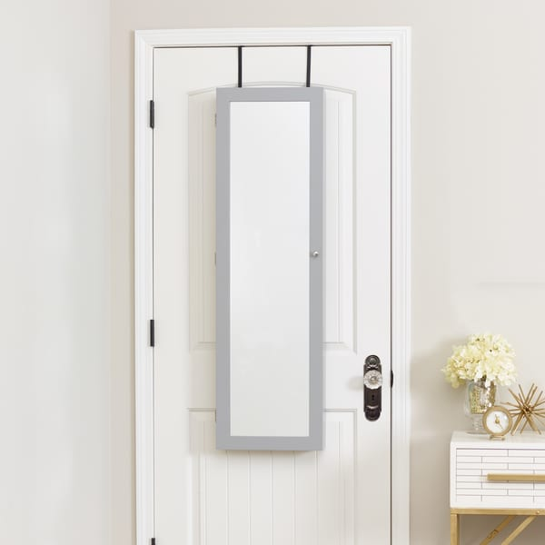 Innerspace Mirrored Grey Jewelry Armoire