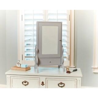 Tabletop Mirror with Jewelry Storage
