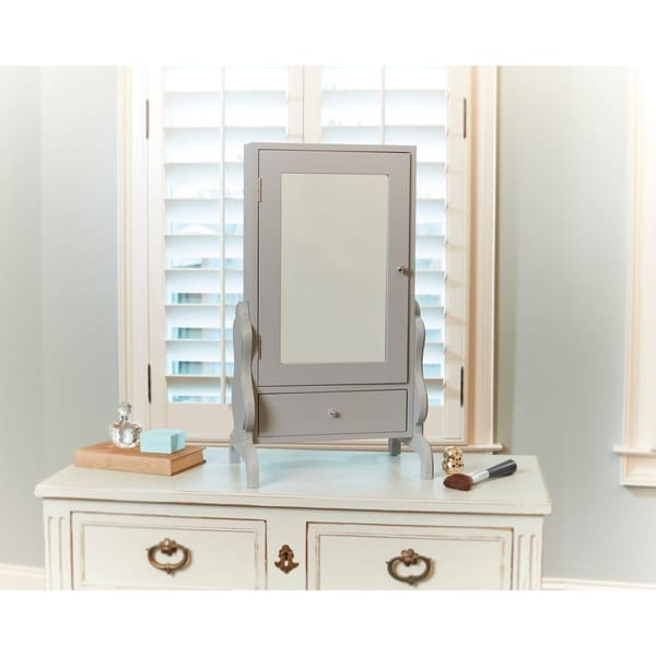 Tabletop Mirror With Jewelry Storage
