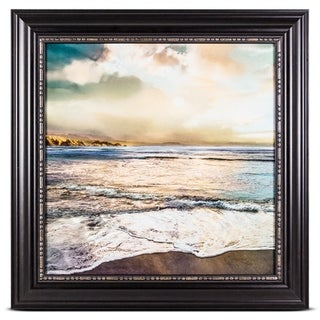 Beach Sunrise Sunset Framed Photo Print on Canvas