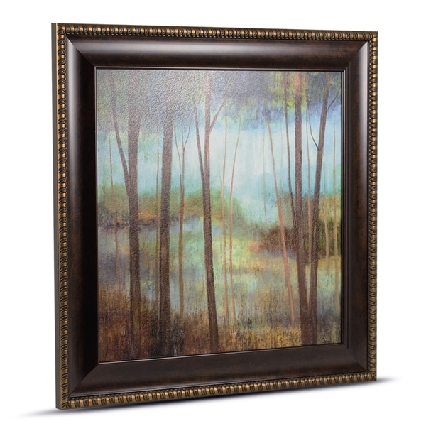 Impressionism Forest Framed Wall Art Painting Print on Canvas