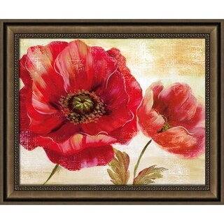 Impressionism Poppy Flowers Framed Wall Art Painting Print on Canvas