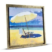 Beach Chair Framed Painting Print Canvas