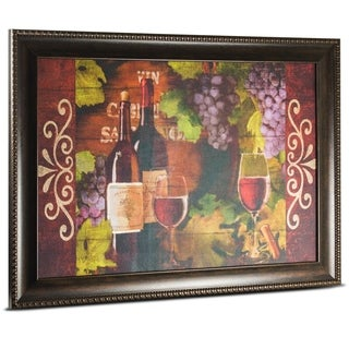Red Wine Framed Painting Print on Canvas Wall Art
