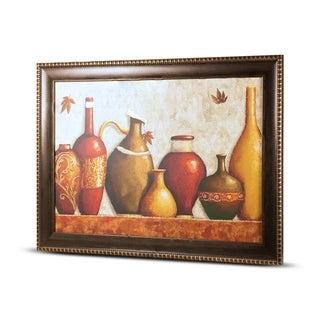 Still-life Vases Bottles Jars Framed Wall Art Painting Print on Canvas