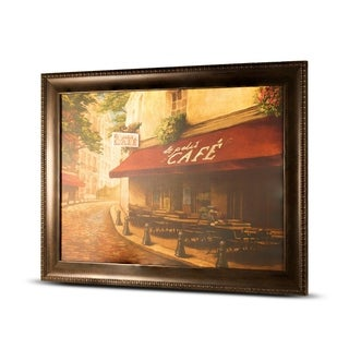 Impressionism le Petit Caf Framed Wall Art Painting Print on Canvas