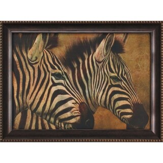 Zebra Framed Painting Print on Canvas Wall Art