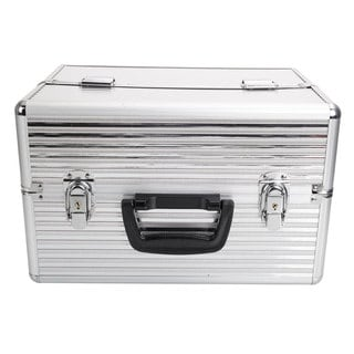 Aluminum Makeup Storage Box with Key