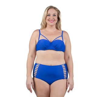 Xehar Women's Plus Size Royal Two Piece Swimsuit (Option: 1x)