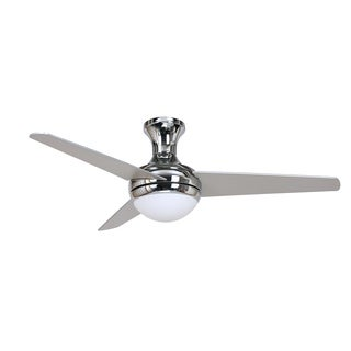 Y-Decor KATELYN 3 Blade Ceiling Fan in Chrome