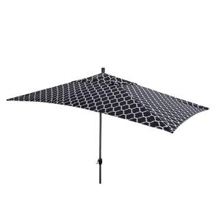 Escada Designs 10'x6' Black/White Moroccan Style Patio Umbrella
