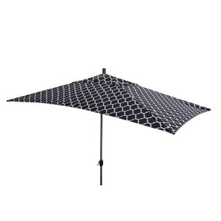 Escada Designs 10'x6' Black/White Moroccan style Patio Umnbrella