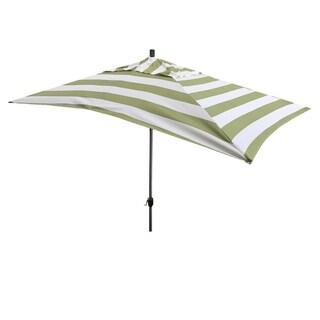 Escada Designs 10' x 6' Green Stripe Rectangular Umbrella