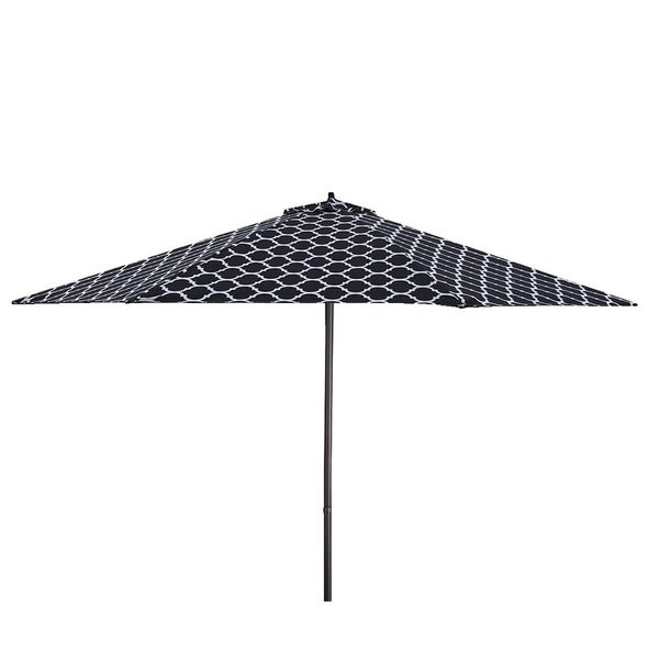 Lauren Company 9 X27 Black White Moroccan Pattern Patio Umbrella