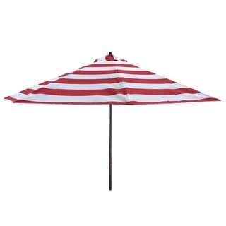 Lauren & Company 9' Red Stripe Aluminum Patio Umbrella