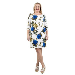 Xehar Women's Plus Size Casual Floral Print Dress