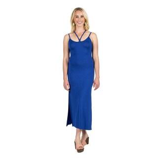 Xehar Women's Sleeveless Strappy Maxi Dress