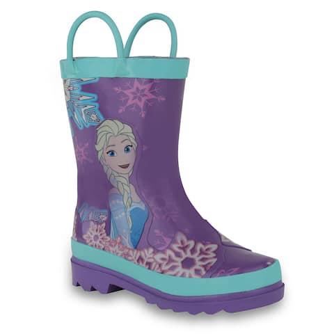 f0336cd60190 Disney Frozen Girls Anna and Elsa Pink Rain Boots ( Toddler / Little Kids)