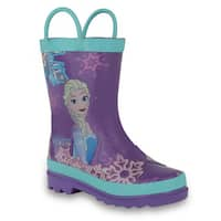 Disney Frozen Girls Anna and Elsa Pink Rain Boots ( Toddler / Little Kids)