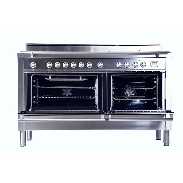 7 burner with griddle italian dual fuel convection gas range in stainless steel free shipping today