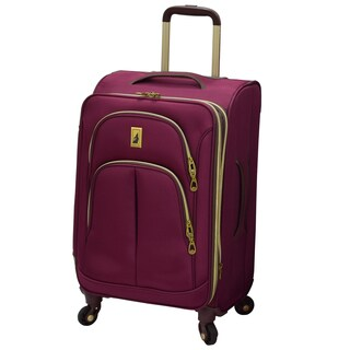 London Fog Coventry 21-inch Expandable Spinner Carry On Suitcase