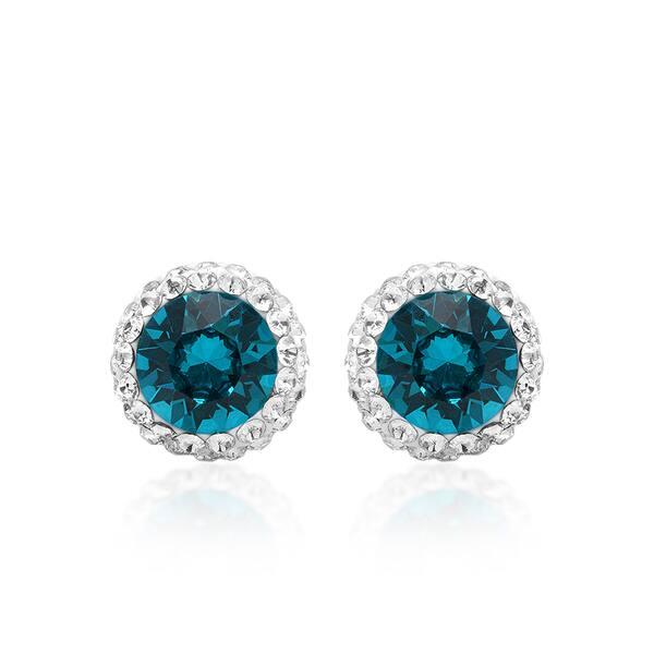 Marabela Sterling Silver Turquoise Swarovski Element
