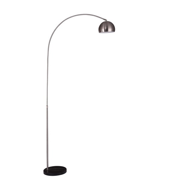 Living District Arcis Collection Satin Nickel Floor Lamp
