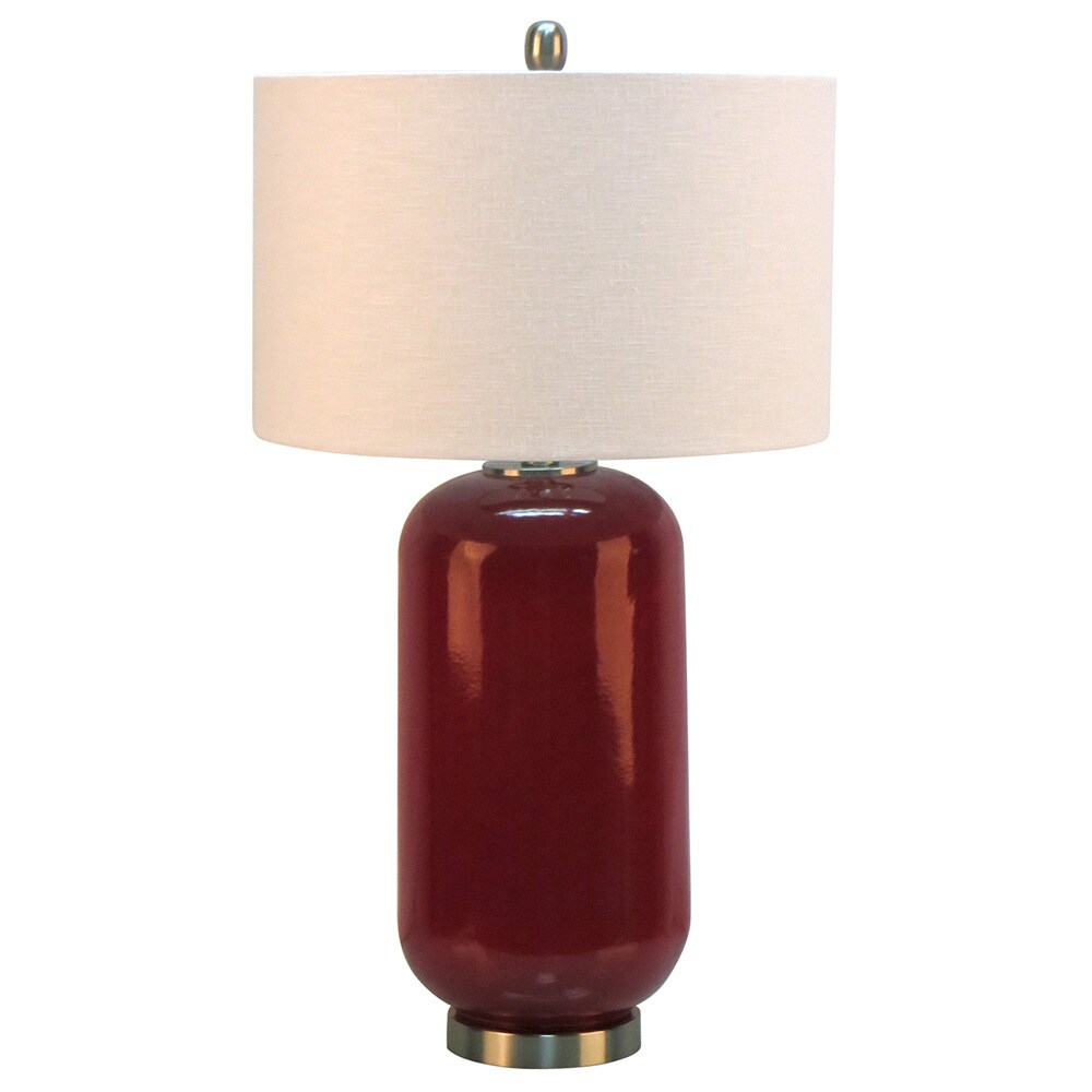 28 75 H Ceramic Table Lamp With Metal Base