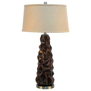 "33""H Ceramic Table Lamp With Metal Base"