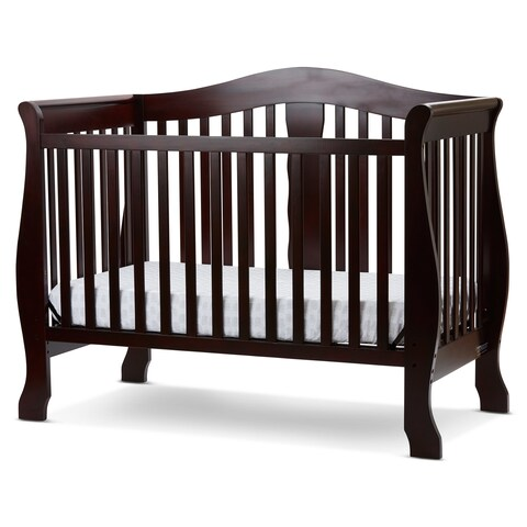 L.A. BABY Avalon 4 in 1 Convertible Crib with Foam Mattress