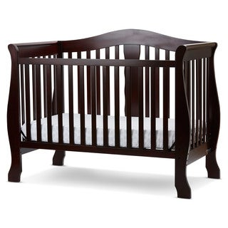 L.A. BABY Avalon 4-in-1 Convertible Crib with Foam Mattress
