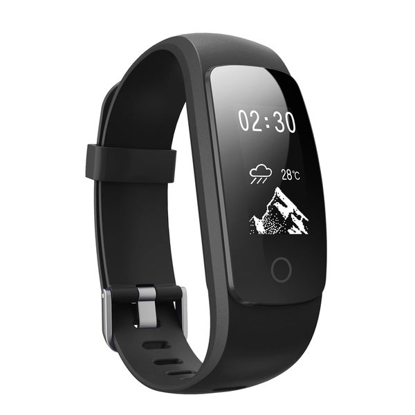 Heart Rate Monitor Smart Fitness Bracelet with Weather Forecast for Android and iOS Smart Phones