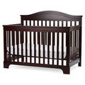 LA Baby Solano Beach 4 in 1 Convertible Crib with Foam Mattress